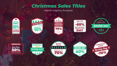 Christmas Sales Titles Motion Graphics Template