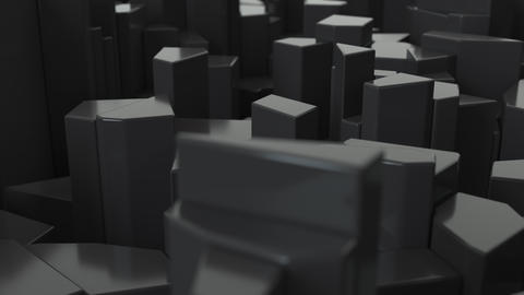 0449 Black fractured surface Animation