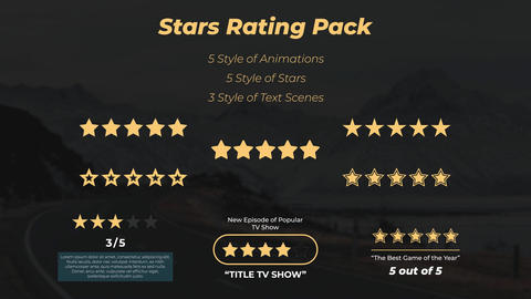 Stars Rating Pack Motion Graphics Template
