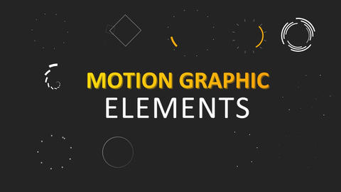 20 Motion Graphic Elements Pack V1 Motion Graphics Template