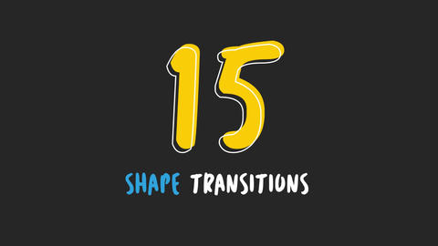 15 Shape Transitions Motion Graphics Template