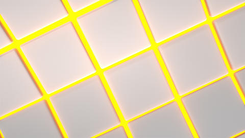 0543 Wavy surface made of white cubes with glowing background CG動画