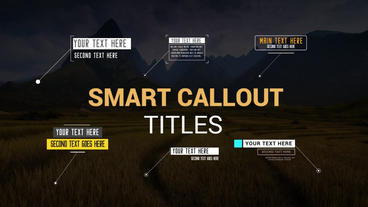 Smart Callouts Pack Motion Graphics Template