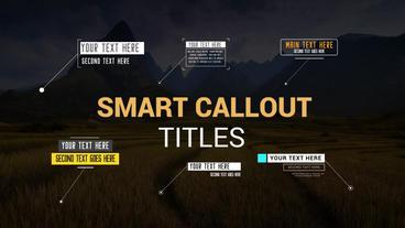Smart Callouts Pack モーショングラフィックステンプレート