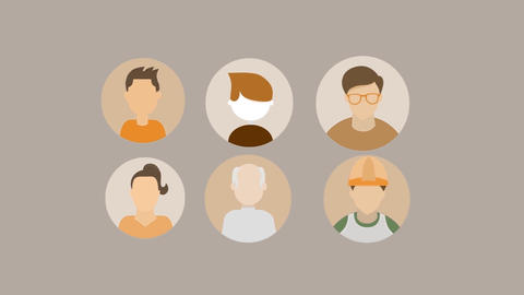 People Animated Avatars Pack Motion Graphics Template
