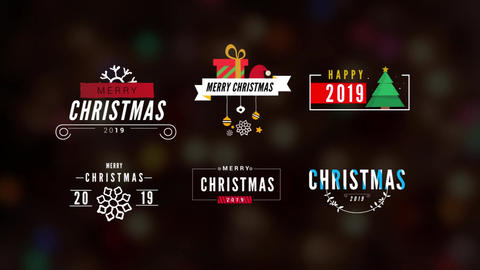 Christmas Minimal Titles Pack Motion Graphics Template
