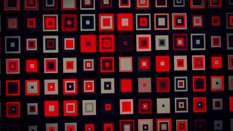 Red Black Crazy Neon Squares Abstract VJ Loop Background Animation