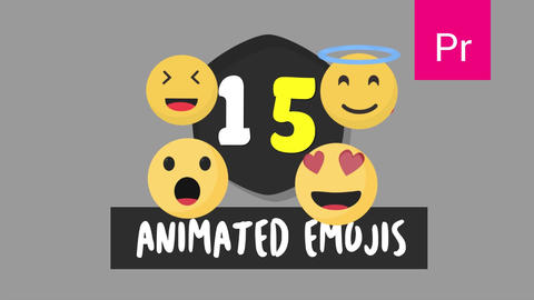 Animated Emojis Vector Pack Version 01 Motion Graphics Template