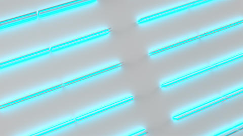 0573 White looped futuristic background with blue glowing lines and elements Animation