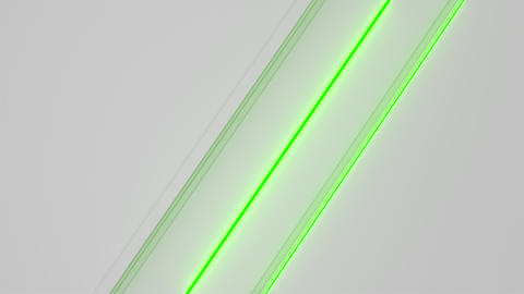 0576 White looped futuristic background with green glowing lines and elements Animation