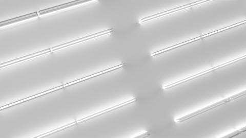 0587 White looped futuristic background with white glowing lines and elements Animation