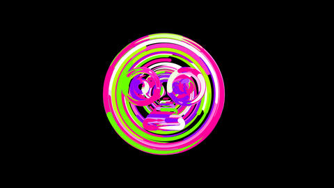 Circles gather in symbol flushed. After it crumbles in a line and moves to the Animation