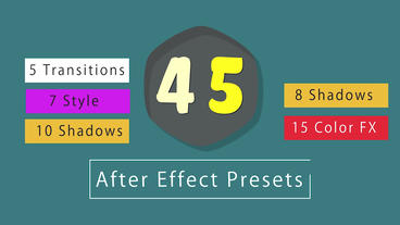 45 After Effect Preset Pack After Effects Animation Preset