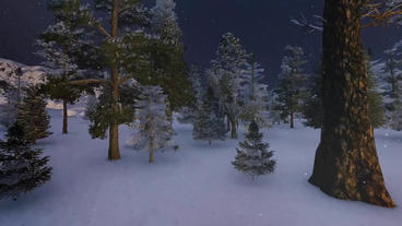 Winter Night Logo Plantilla de After Effects