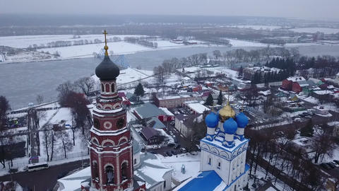 Old Church and bell tower in the city of Bronnitsy. Russia 영상물