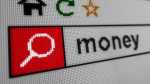 Searching internet money Animation