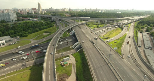 Transport interchange of Moscow 003 Footage