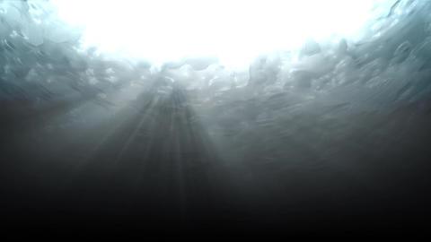 Water underWater lookUp dark Animation