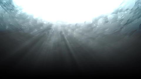 Water underWater lookUp dark Stock Video Footage