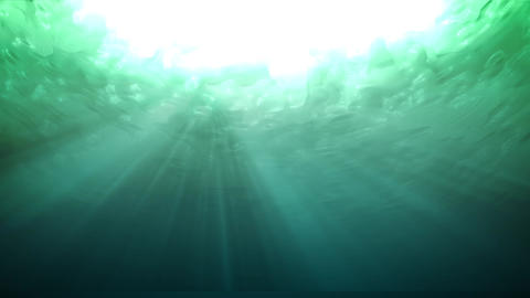 Water underWater lookUp green Animation