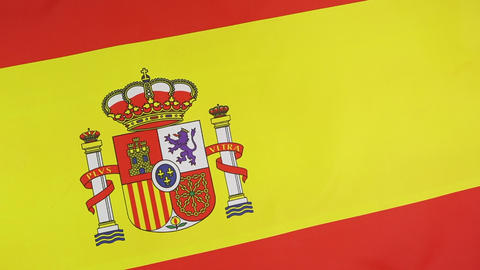 Closeup of a Spanish national flag Footage