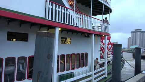 Natchez paddle steamer on Mississippi River - NEW ORLEANS, LOUISIANA - APRIL 17, Live Action