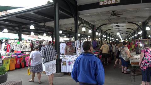 French Market in New Orleans French Quarter - NEW ORLEANS, LOUISIANA - APRIL 17, Footage