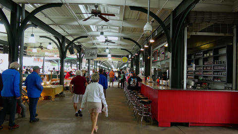 French Market in New Orleans French Quarter - NEW ORLEANS, LOUISIANA - APRIL 17, Live Action
