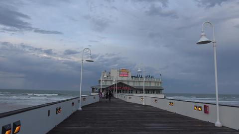 Pier at Daytona Beach - DAYTONA BEACH, FLORIDA APRIL 14, 2016 Live Action