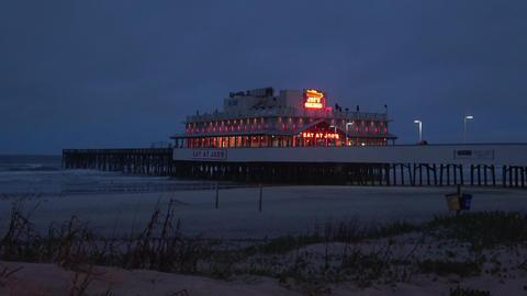 Daytona Beach Pier at night - DAYTONA BEACH, FLORIDA APRIL 14, 2016 Live Action