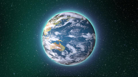Earth Rotating, The World Spinning, Full Rotation, Seamless Loop - Realistic Pla Animation