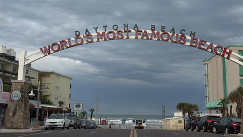 Welcome to worlds famous beach Daytona Beach - DAYTONA BEACH, FLORIDA APRIL 14,  Live Action