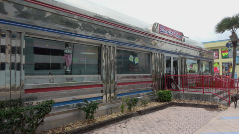 Typical American Diner in Daytona Beach - DAYTONA BEACH, FLORIDA APRIL 14, 2016 Live Action