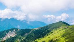 Timelapse Of Tatun Mountain Cloud Waterfall, Taiwan stock footage