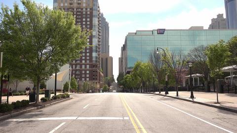 Atlanta Downtown street view - ATLANTA, GEORGIA - APRIL 21, 2016 Live Action