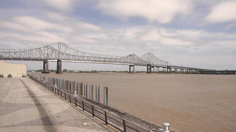 Mississippi River in New Orleans - NEW ORLEANS, LOUISIANA - APRIL 17, 2016 Footage