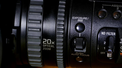 Professional Video Camera close-up GIF