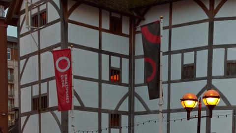 Shakespeare Globe Theater, London, England, UK Footage