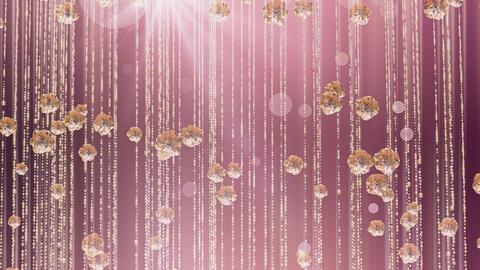 Rose Gold Falling Glitter 03 4K 애니메이션