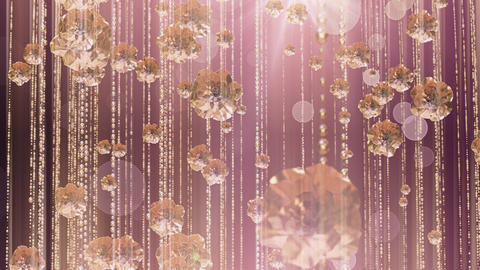 Rose Gold Falling Glitter 4K Animation
