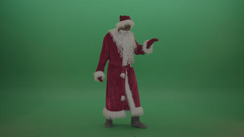 Santa displays wonderful break dance skills over chromakey background Live Action