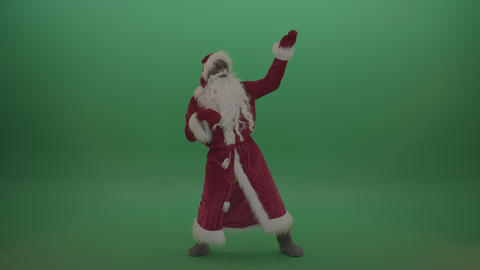 Crazy santa moves over chromakey background ライブ動画