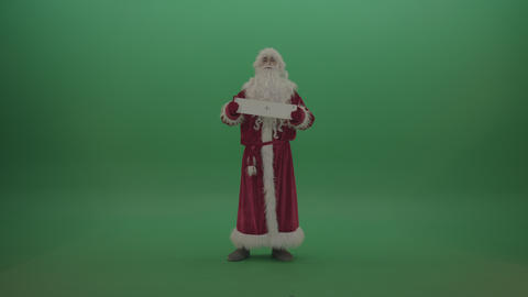 Beware of the plus sign postcard santa displays over chromakey background ライブ動画