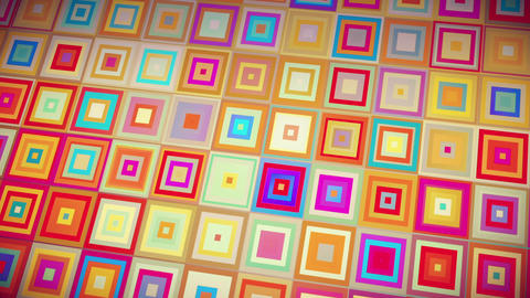 Colorful Crazy Squares Abstract VJ Loop Background Animación