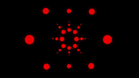 Red circular oscillating motion effect on on black motion background VJ Loop Live Action