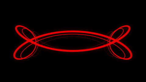 Red interminable motion laser lines effect on black motion background VJ Loop Live Action