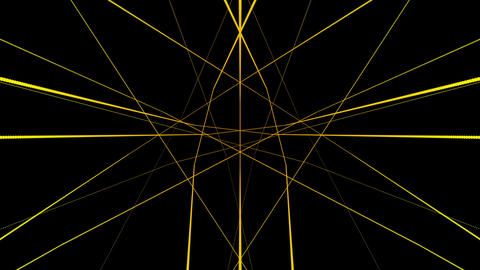 Rotating yellow motion lines laser effect on black motion background VJ Loop Footage