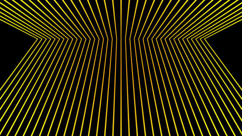 Varying yellow motion laser line effects on black motion background VJ Loop Footage