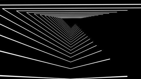 White pyramidal motion laser lines effect on black motion background VJ Loop Footage