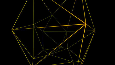 Yellow graphical motion laser lines effect on black motion background VJ Loop Footage